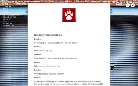Screenshot of FAQ Page dogstrong.com - FAQ — DOGSTRONG - Your one source for everything DOG - captured Sept. 26, 2014