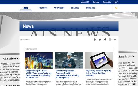 Screenshot of Press Page ats-global.com - News | ATS Global - captured Oct. 2, 2018