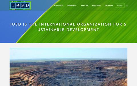 Screenshot of Blog iosd.org - Blog - IOSD is the International Organization for Sustainable Development - captured Feb. 4, 2016