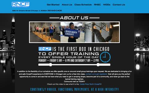 Screenshot of About Page rivernorthcrossfit.com - River North CrossFit | Located Downtown Chicago - captured Sept. 30, 2014
