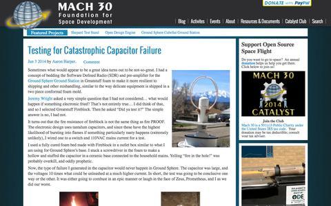 Screenshot of Blog mach30.org - Main | Mach 30 - captured Sept. 30, 2014