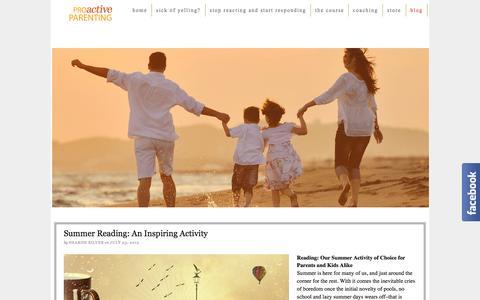 Screenshot of Blog proactiveparenting.net - Proactive Parenting Blog | Proactive Parenting - captured July 24, 2015