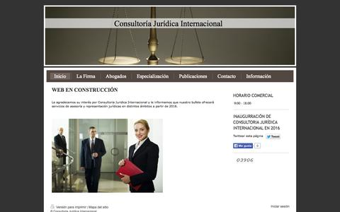 Screenshot of Home Page consultoriajuridica.eu - Consultoria Juridica Internacional: Soluciones jurídicas - captured Oct. 2, 2014