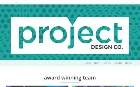 Screenshot of Team Page projectdesigncompany.com - Award winning team Project Design Company Washington DC - captured July 23, 2018
