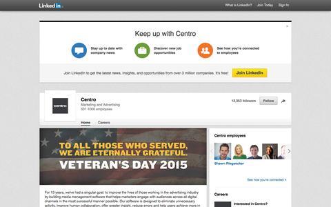 Screenshot of LinkedIn Page linkedin.com - Centro | LinkedIn - captured Nov. 11, 2015
