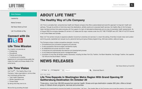 Life Time Fitness | News Releases