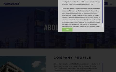 "Screenshot of About Page puravankara.com - ""Top Construction Company Bangalore   Top Real Estate and Project Developers - Puravankara"" - captured Aug. 11, 2018"