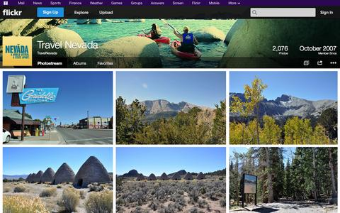Screenshot of Flickr Page flickr.com - Flickr: TravelNevada's Photostream - captured Oct. 26, 2014