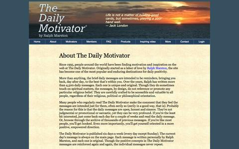 Screenshot of About Page greatday.com - About The Daily Motivator - captured Nov. 2, 2014