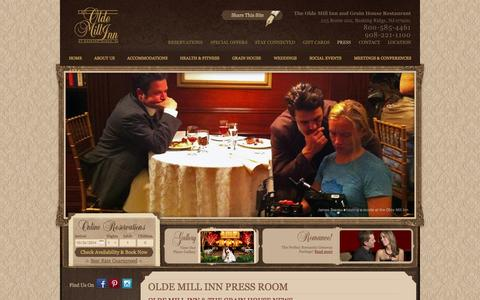 Screenshot of Press Page oldemillinn.com - Somerset Hotel Press Room: The Latest Travel News and Alerts on Travel to Somerset Hills - captured Oct. 26, 2014