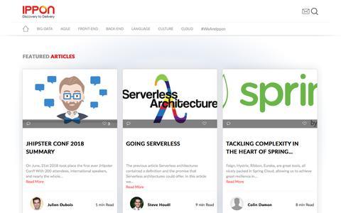 Screenshot of Blog ippon.tech - Ippon | Experts in Java Innovation, DevOps, Big Data, Front-end, & Back-end - captured July 6, 2018