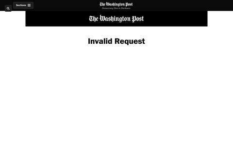Screenshot of Login Page washingtonpost.com - Washington Post - captured Feb. 13, 2019