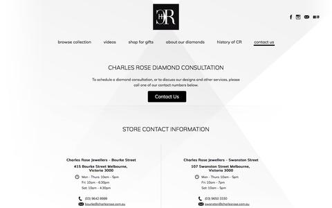 Screenshot of Contact Page charlesrose.com.au - Contact to Consult   Charles Rose - captured July 5, 2017