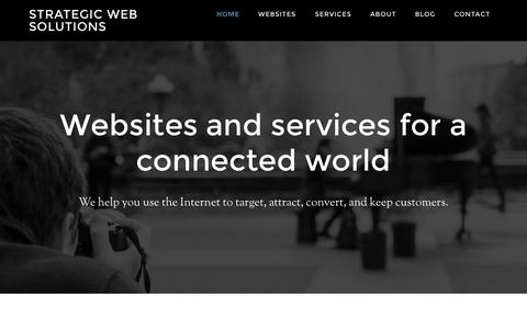 Screenshot of Home Page strategicwebsolutions.com.au - Strategic Web Solutions - Websites & Services for a Connected World - captured Aug. 15, 2015