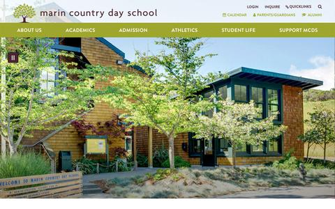 Screenshot of Home Page mcds.org - Home - Marin Country Day School - captured Oct. 2, 2018