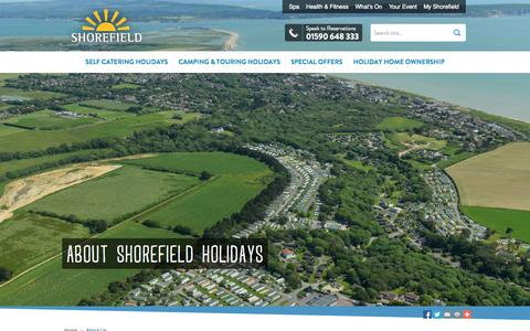 Screenshot of Jobs Page shorefield.co.uk - Find Out More About Our South Coast Parks | Shorefield Holidays - captured Oct. 26, 2014