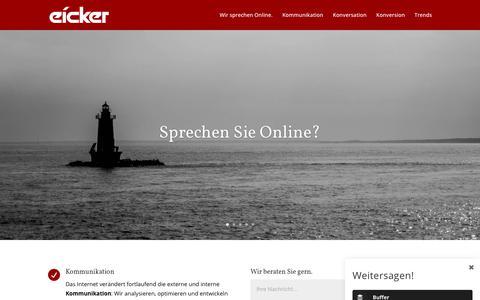Screenshot of Home Page eicker.digital - eicker.digital > Kommunikation > Kommunikationsberatung > Münster - captured June 7, 2018