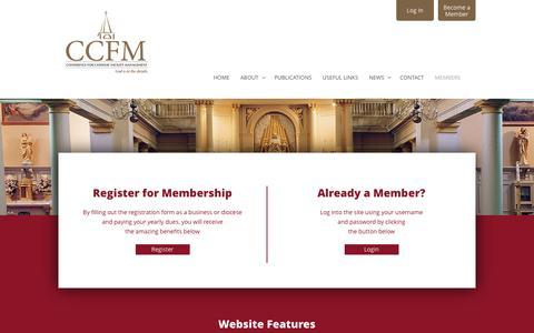 Screenshot of Signup Page ccfm.net - CCFM  Members - CCFM - captured Aug. 23, 2017