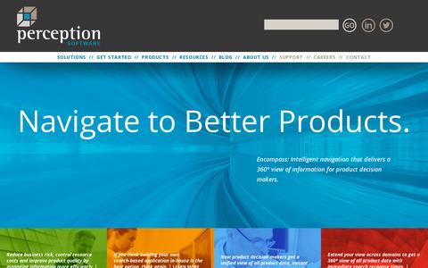Screenshot of Home Page perceptionsoftware.com - Home | Perception Software - captured July 11, 2014