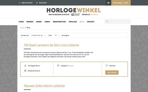 Screenshot of Blog horlogewinkel.nl - Blog - captured Oct. 3, 2014