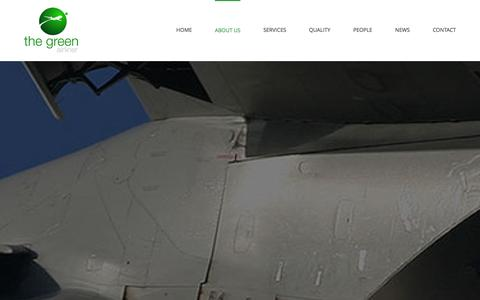 Screenshot of About Page thegreenairliner.com - the green airliner - About Us - captured Jan. 11, 2016