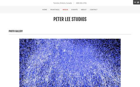Screenshot of Press Page peterleestudios.com - Media | Peter Lee Studios - captured Nov. 4, 2018