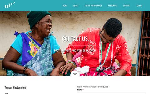 Screenshot of Contact Page sef.co.za - Contact - captured Oct. 19, 2018