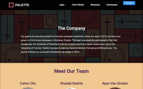 Screenshot of Team Page palettegear.com - Palette - Meet our Team - captured Nov. 18, 2015