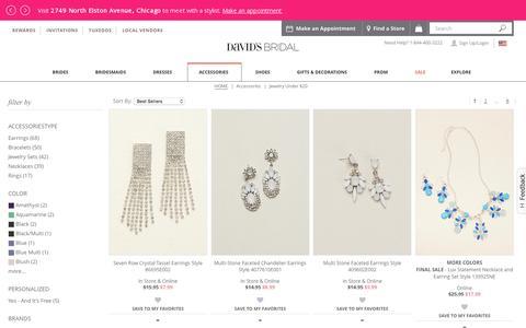 Jewelry Under $20 | Davids Bridal