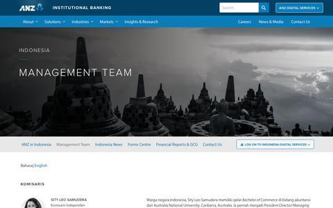 Screenshot of Team Page anz.com - Indonesia Management Team - captured July 5, 2018