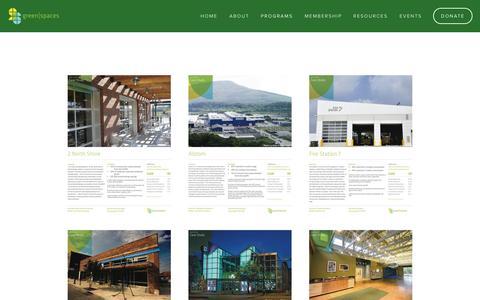 Screenshot of Case Studies Page greenspaceschattanooga.org - LEED Case Studies — green|spaces - captured Nov. 2, 2014