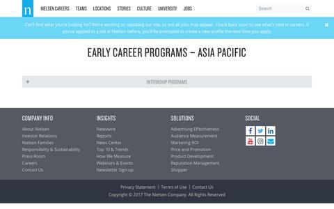Early Career Programs – Asia Pacific – Nielsen Careers