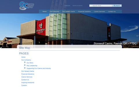 Screenshot of Site Map Page gamingcapitalgroup.com - Site Map | Gaming Capital Group - captured Sept. 29, 2014
