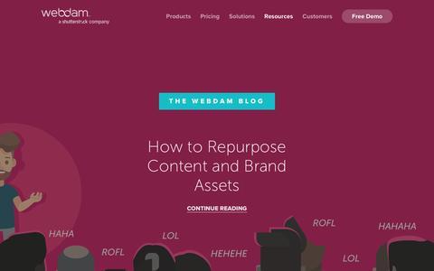Screenshot of Blog webdam.com - The Webdam Blog - captured Jan. 26, 2018