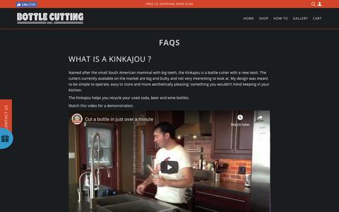 Screenshot of FAQ Page bottlecutting.com - FAQs – Bottle Cutting Inc. - captured Nov. 25, 2018