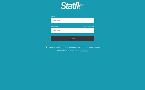 Screenshot of Login Page statflo.com - Log in to Statflo CRM - captured June 11, 2019