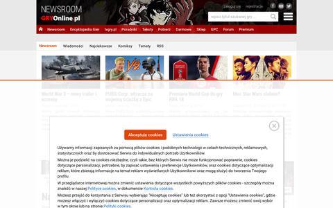 NEWSROOM - Najnowsze wiadomoĹ›ci o grach | GRYOnline.pl