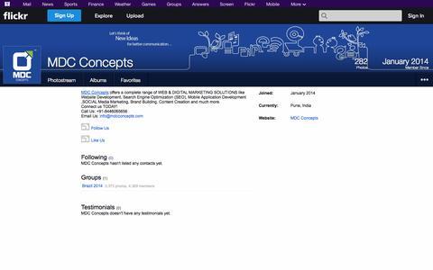 Screenshot of Flickr Page flickr.com - Flickr: MDC Concepts - captured Oct. 23, 2014