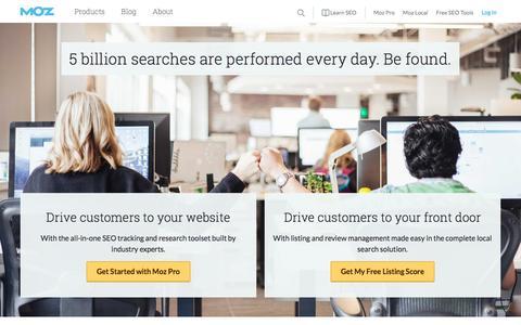 Screenshot of Home Page moz.com - Moz | SEO Software, Tools & Resources for Smarter Marketing | Moz - captured April 20, 2017