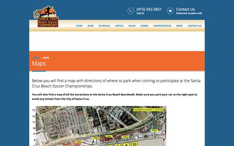 Screenshot of Maps & Directions Page beachsoccerchampionships.com - Maps | Beach Soccer Championships - captured June 29, 2017