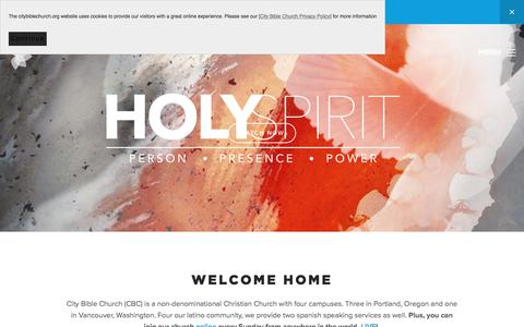 Screenshot of Home Page citybiblechurch.org - Christian Church in Portland & Vancouver | City Bible Church - captured July 18, 2018