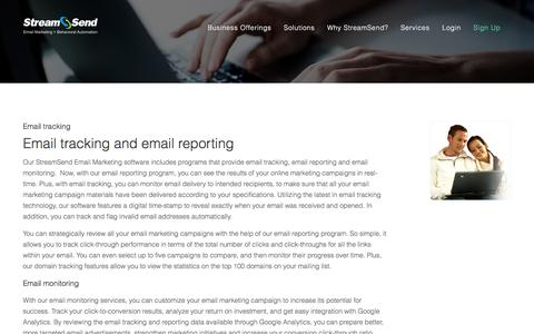 Email Tracking, Email Reporting, Email Monitoring - StreamSend