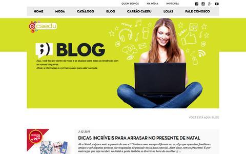 Screenshot of Blog caedu.com.br - Caedu Moda - captured Dec. 6, 2015