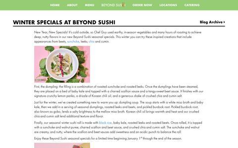 Screenshot of Blog beyondsushinyc.com - Blog - Beyond Sushi – The Green Roll - captured June 25, 2017