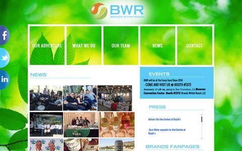 Screenshot of Press Page bwrgroup.com - BWR News | BWR - Brands Within Reach - captured Feb. 8, 2016