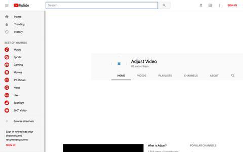 Adjust Video - YouTube - YouTube