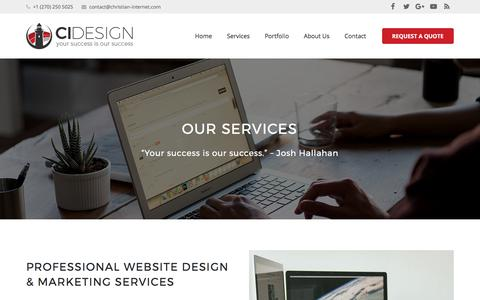 Screenshot of Services Page christian-internet.com - Christian Internet Marketing Services | Christian Website Design Company - captured July 30, 2017
