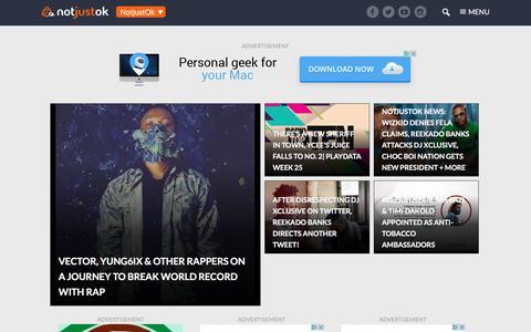 Screenshot of Press Page notjustok.com - News Archives - NotjustOk - captured June 20, 2017