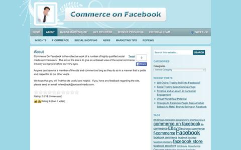 Screenshot of About Page commerceonfacebook.com - About Commerce on Facebook - captured March 8, 2016