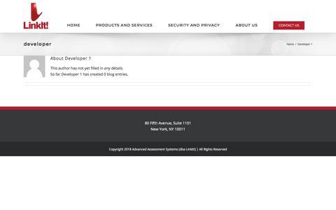 Screenshot of Developers Page linkit.com - Developer 1, Author at Linkit! - captured July 20, 2018